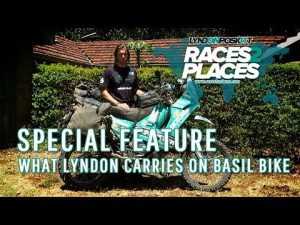Races to Places Special Feature – What Lyndon Carries On Basil Bike – Lyndon's Luggage