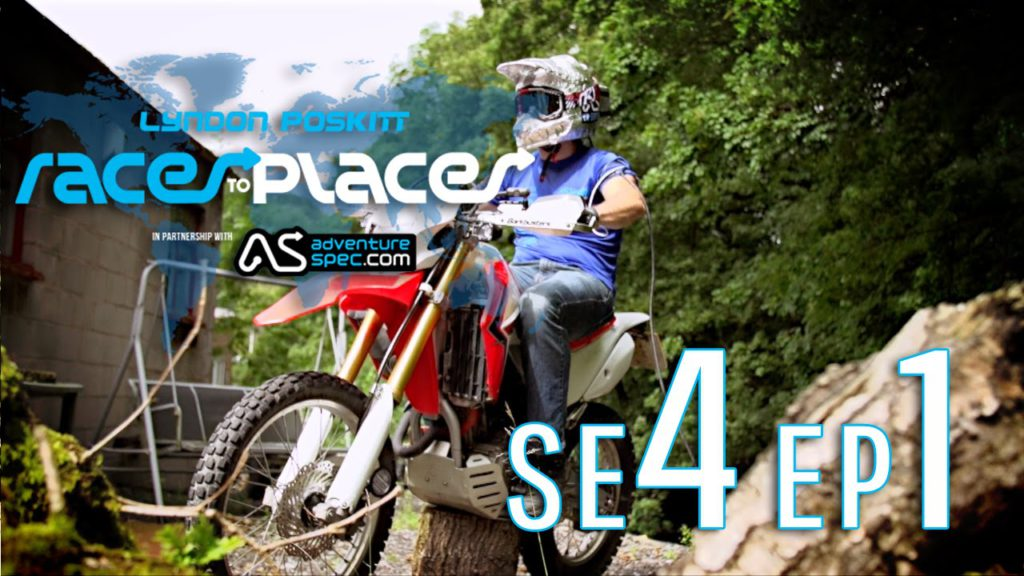 Adventure Motorcycling Documentary – Races To Places SE4 EP1 – Ft. Lyndon Poskitt