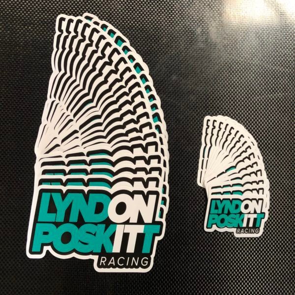 Lyndon Poskitt Racing Sticker Small