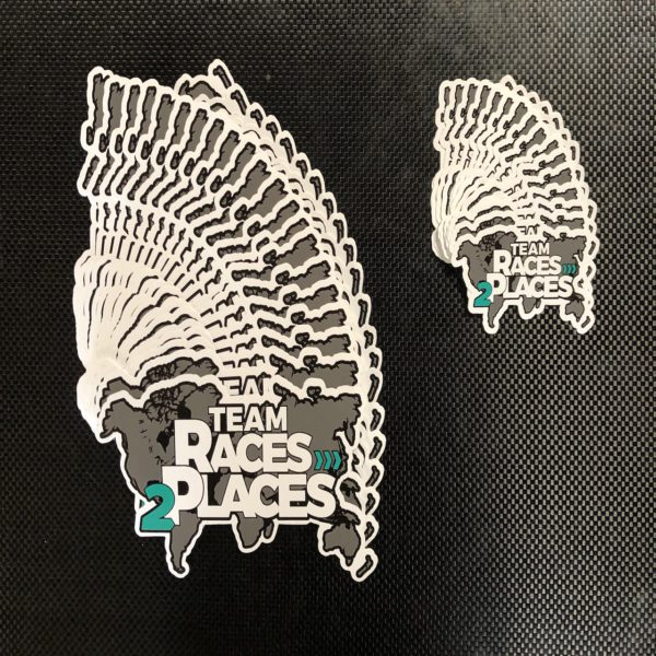 Team Races to Places Sticker Large