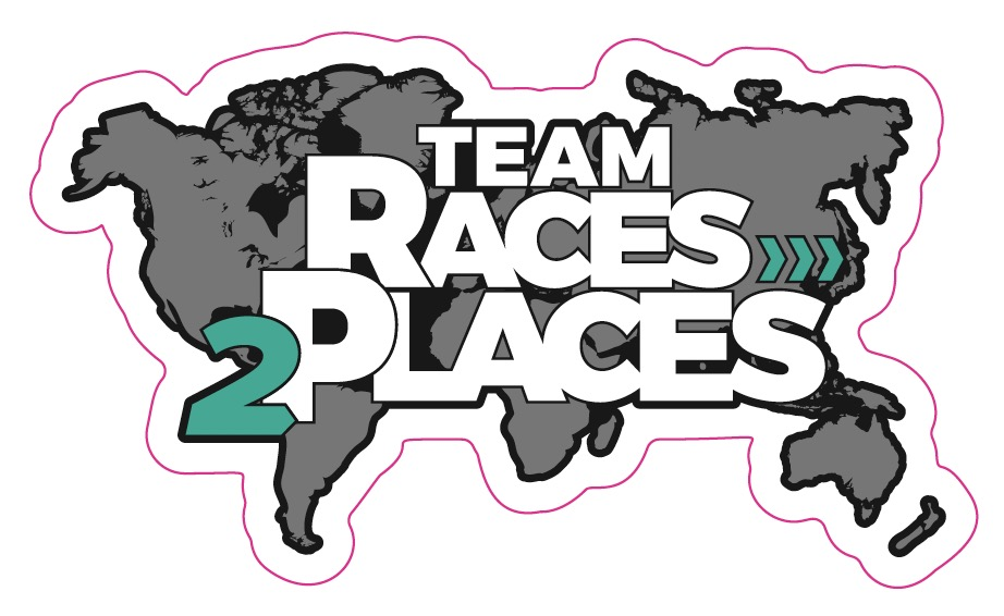 Team Races to Places Sticker Small