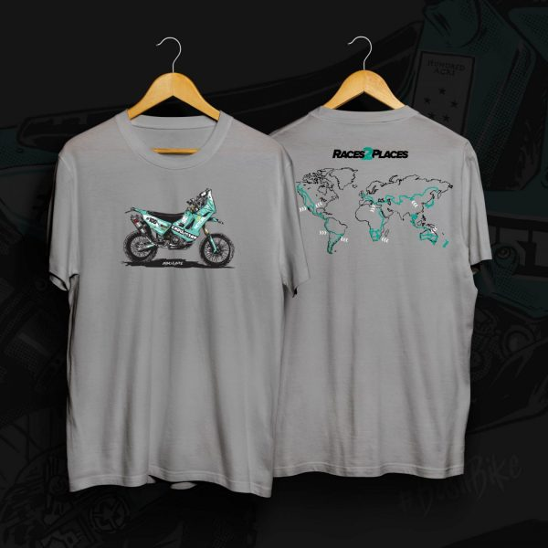 Races to Places Basil Bike T-shirt