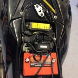 Battery box for 450 Rally rear tank