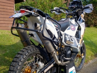 ultimate round the world 690 adventure rally exhaust