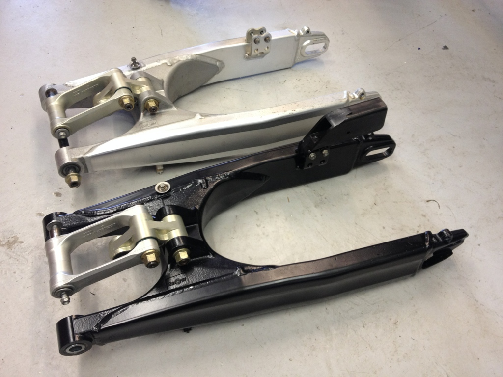 Swing arm and linkage rebuilds