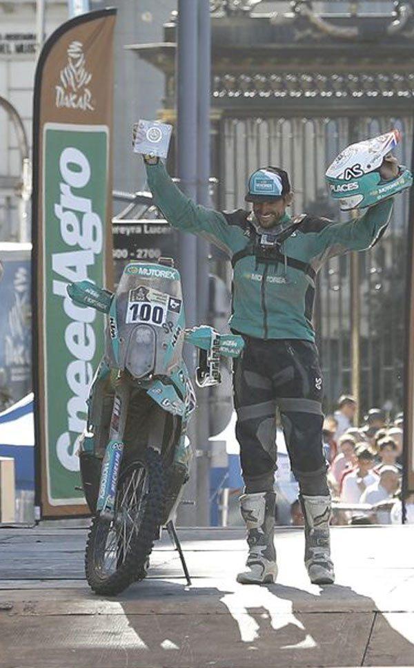 Lyndon Poskitt Dakar Rally Podium